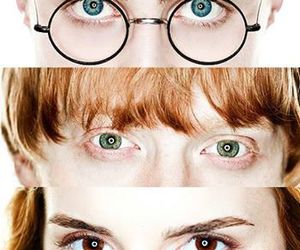 harry potter, hermione granger, and eyes image