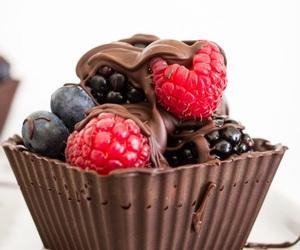 chocolate, food, and fruit image
