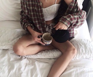 tea, grunge, and bed image
