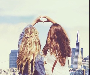 love, friendship, and hair image