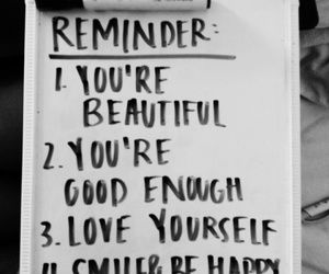 beautiful, reminder, and smile image