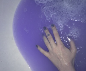 purple, grunge, and water image