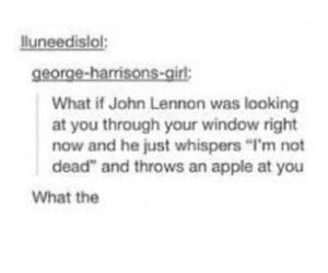 apple, funny, and john lennon image