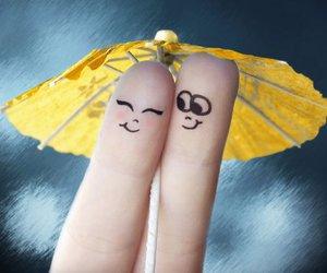 love, fingers, and umbrella image