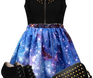 dress, galaxy, and outfit image