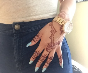 henna tattoo and watch image