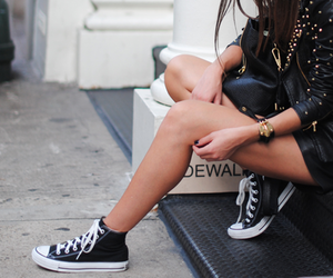 black, convers, and fashion image