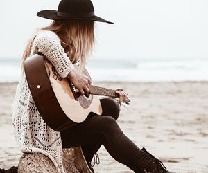 acoustic, alone, and beach image