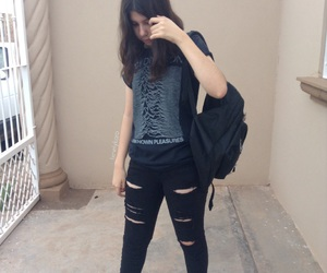 grunge, joy division, and outfit image