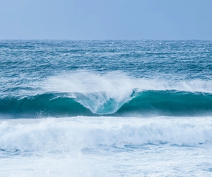 waves, blue, and ocean image