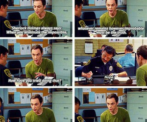 big bang theory, funny, and sherlock holmes image