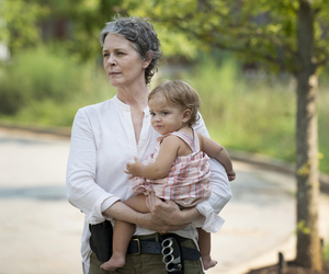 carol, judith, and the walking dead image