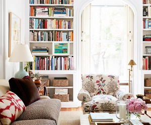 home, books, and decor image
