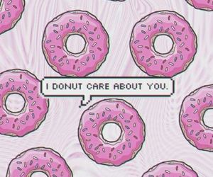 care, donut, and sarcasm image