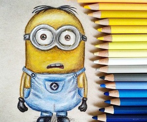 colors, drawing, and minion image