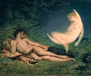 art, goddess, and light image