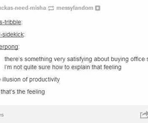 funny, office supplies, and tumblr image