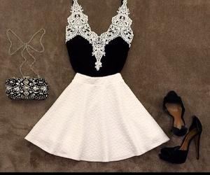 black, black&white, and fashion image