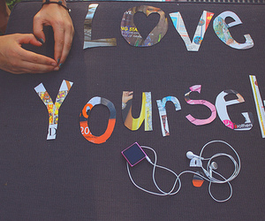 love and love yourself image