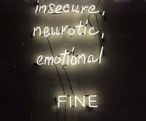 neon, emotional, and quotes image