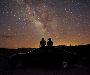 stars, sky, and car image