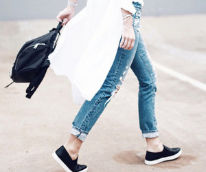 black and white, fashion, and sneakers image