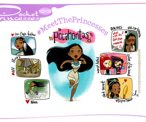 pocahontas, disney, and pocket princesses image