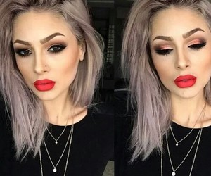 bad ass, grunge, and red lips image