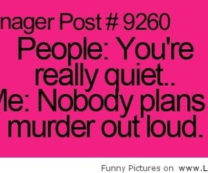 teenager post, funny, and murder image