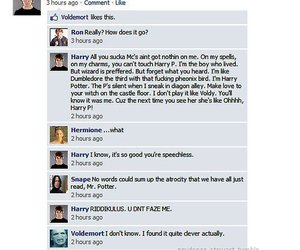 harry potter, facebook, and mean girls image