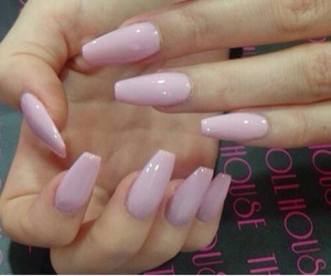 n, pink, and nails image