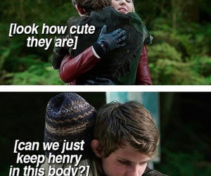 once upon a time, peter pan, and emma swan image
