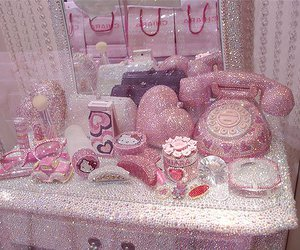 pink, hello kitty, and glitter image