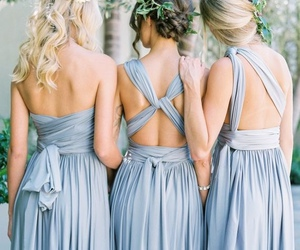 dress, friends, and wedding image