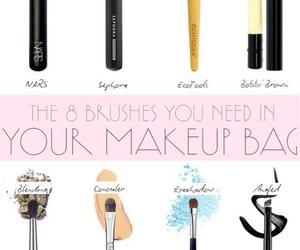 Brushes, makeup, and bag image