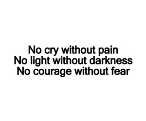 courage, cry, and Darkness image