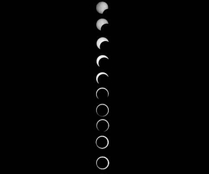 black, black and white, and moon image