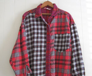 buttons, flannel, and grunge image