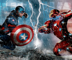 captain america, Marvel, and civil war image