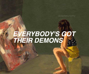 quotes, art, and demon image