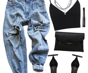black, high waisted, and bralet image