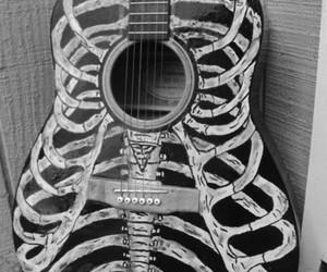 guitar, music, and skeleton image