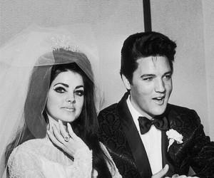 priscilla presley, Elvis Presley, and wedding image