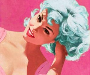 pink, vintage, and art image
