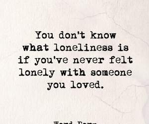 quote, love, and loneliness image
