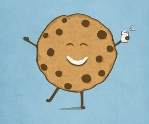 cookie, milk, and chocolate image