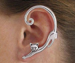 jewelry, cat, and ear image