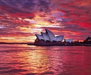 sunset and Sydney image