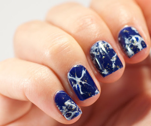 blue, colour, and nail art image