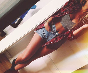 beautiful, jeans, and shorts image